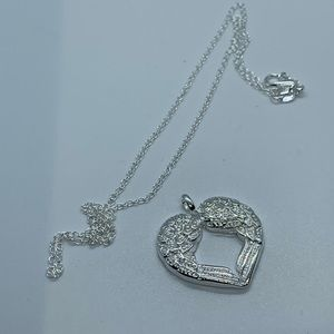Women's silver plated charm with necklace